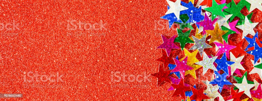 Beautiful red holiday background. Shiny with stars abstract for...
