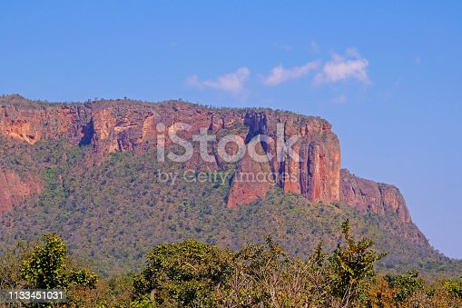 istock Beautiful red mountain landscape at Chapada Dos Guimaraes, the geographic center of South America, Mato Grosso, Brazil 1133451031