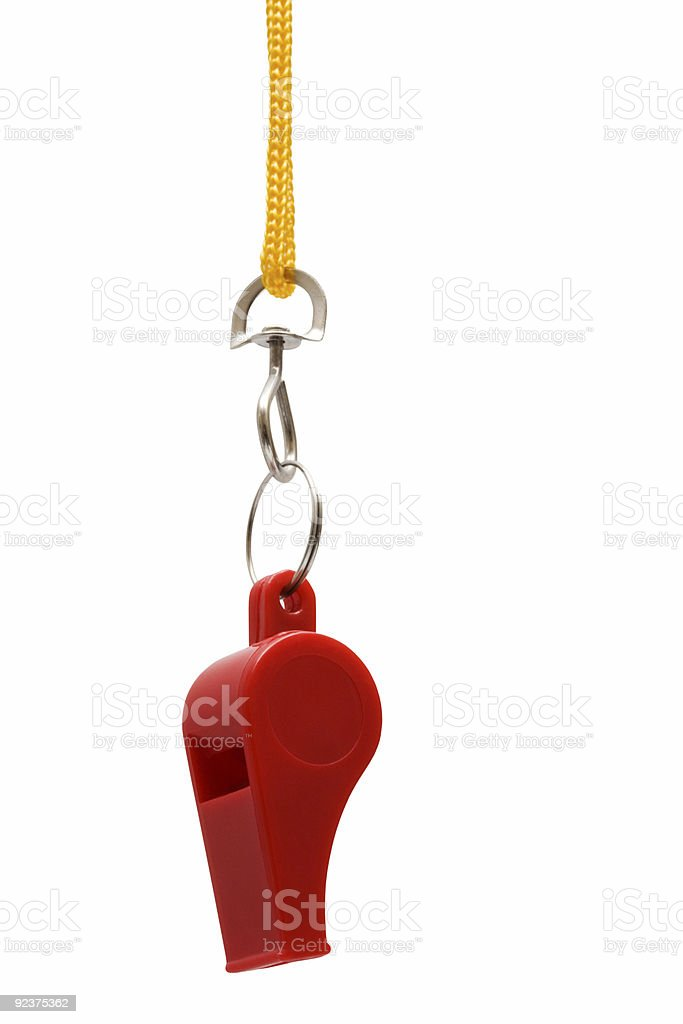 Beautiful red whistle royalty-free stock photo