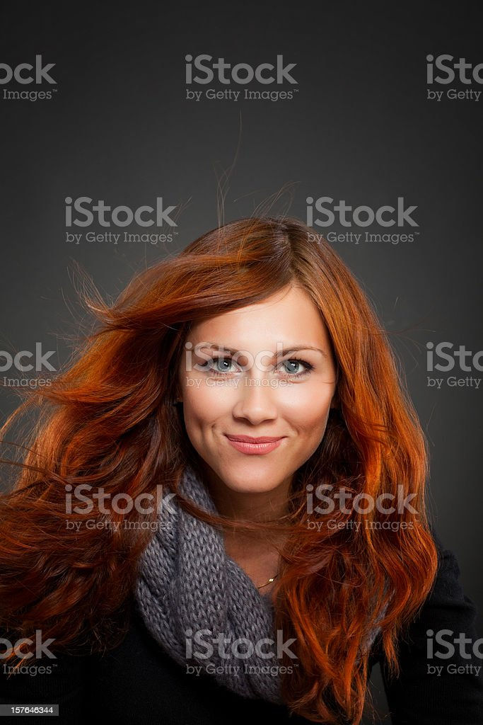 beautiful redhead girl royalty-free stock photo