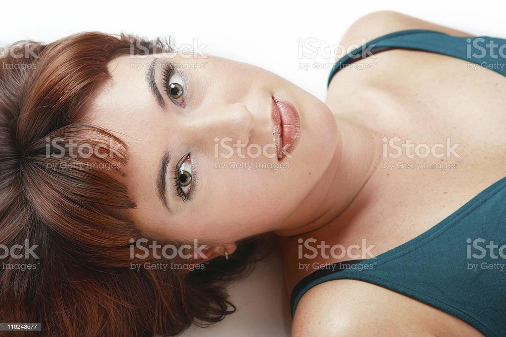 Beautiful redhead royalty-free stock photo