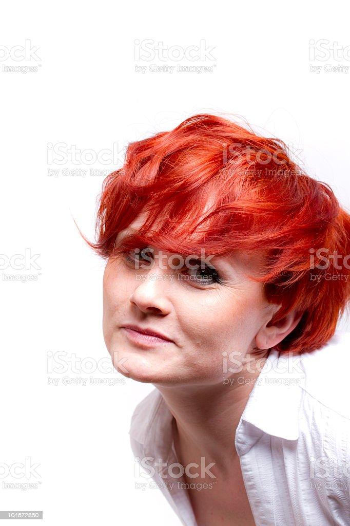 beautiful redhead portrait royalty-free stock photo