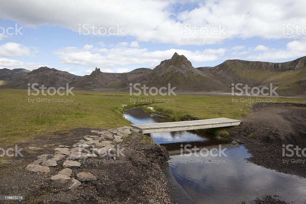 Beautiful reflection in a small creek @ Iceland royalty-free stock photo