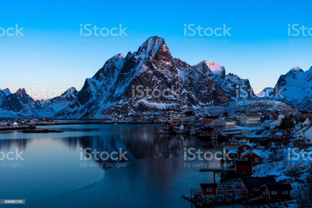 Norveç'te güzel Reine royalty-free stock photo