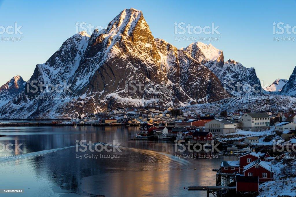 Norveç'te güzel Reine stok fotoğrafı