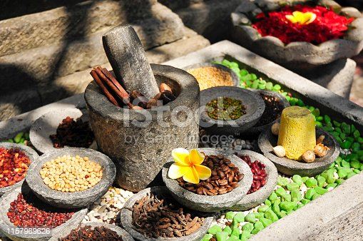 Beautiful religious offerings and gifts to God - Bali - Asia
