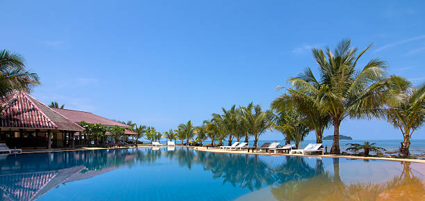 Beautiful Resort Pool  koh chang stock pictures, royalty-free photos & images