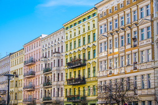 istock Beautiful restored houses in Berlin 491447070