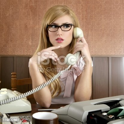 istock beautiful retro businesswoman vintage secretary 119832861