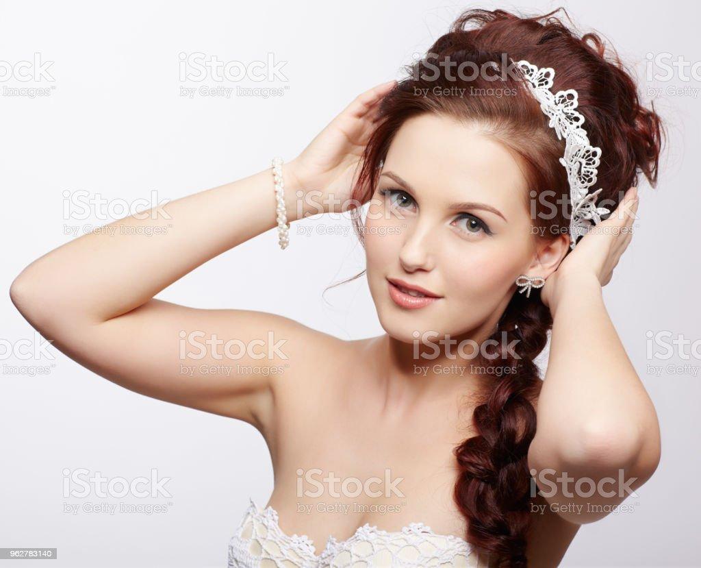 beautiful retro girl - Foto stock royalty-free di Abbigliamento