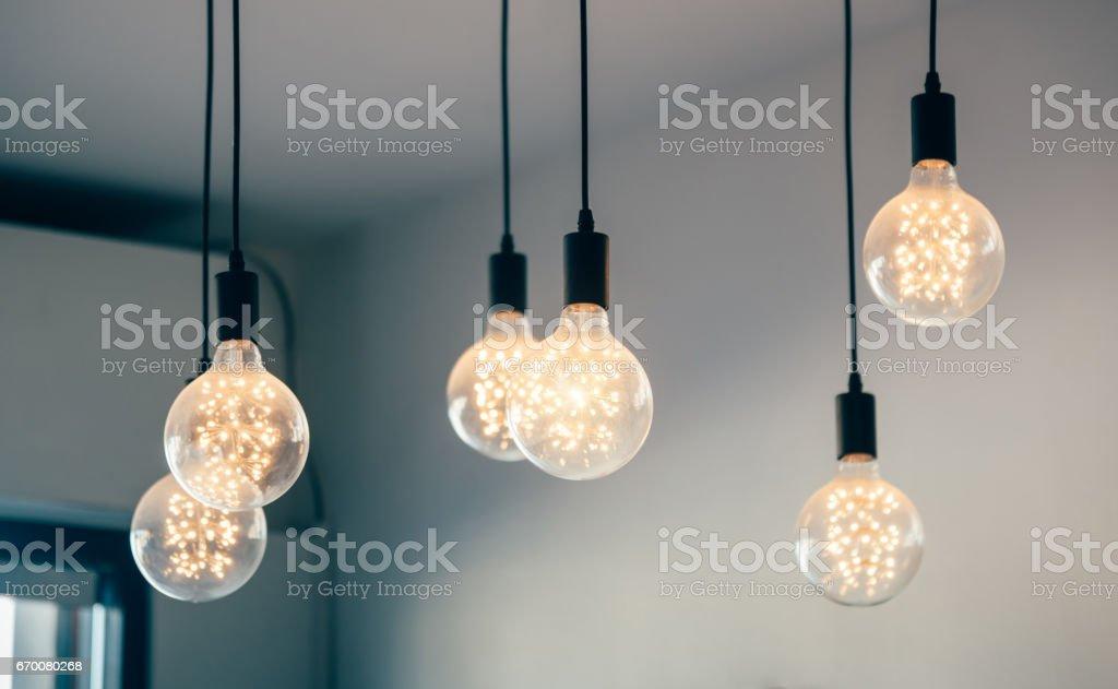 Beautiful retro light lamp decor glowing – Foto