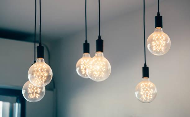Schöne retro Licht Lampe Dekor glühend – Foto