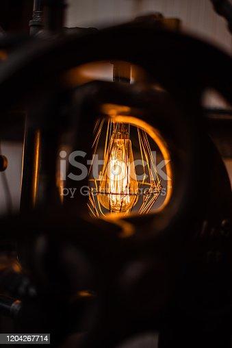 1137999886 istock photo Beautiful retro luxury interior lighting lamp decor antique shop house uk storage detail closeup sharp focus bokeh space for text advertising electricity 1204267714