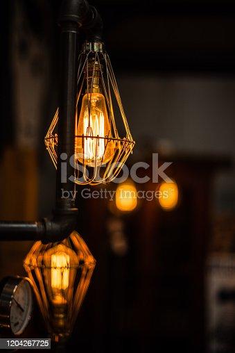 1137999886 istock photo Beautiful retro luxury interior lighting lamp decor antique shop house uk storage detail closeup sharp focus bokeh space for text advertising electricity 1204267725