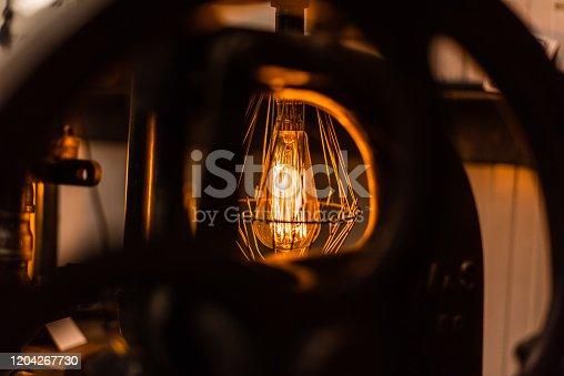 1137999886 istock photo Beautiful retro luxury interior lighting lamp decor antique shop house uk storage detail closeup sharp focus bokeh space for text advertising electricity 1204267730