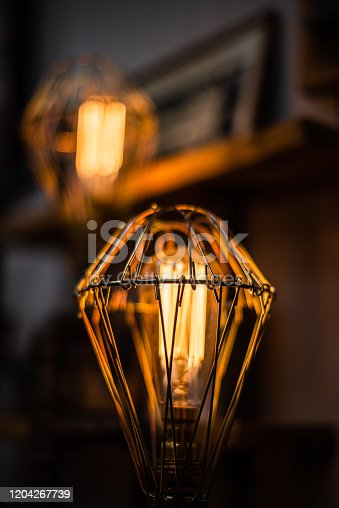 1137999886 istock photo Beautiful retro luxury interior lighting lamp decor antique shop house uk storage detail closeup sharp focus bokeh space for text advertising electricity 1204267739