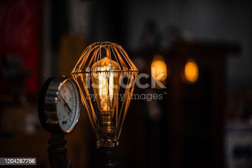 1137999886 istock photo Beautiful retro luxury interior lighting lamp decor antique shop house uk storage detail closeup sharp focus bokeh space for text advertising electricity 1204267756