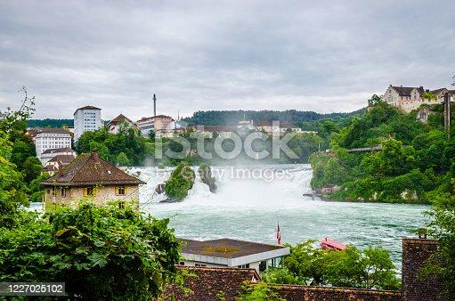 istock Beautiful Rhein waterfall, Schaffhausen, Canton Schaffhausen, Switzerland, Europe 1227025102