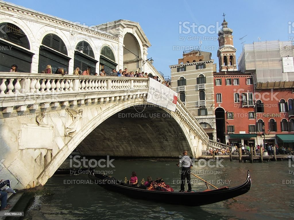 Beautiful Rialto Bridge royalty-free stock photo