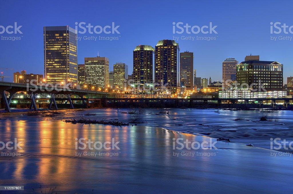 Beautiful Richmond Cityscape (HDR Version) stock photo