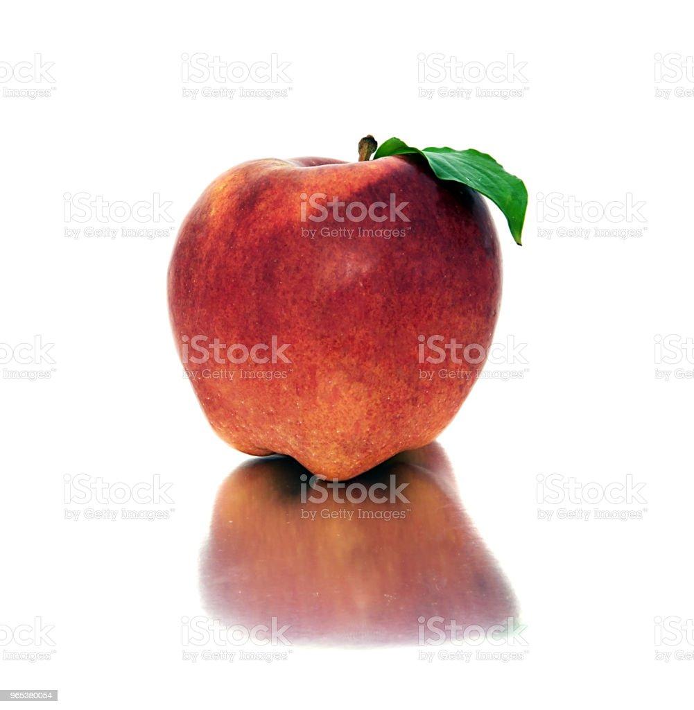 schöne, Reife, saftige Äpfel auf einem weißen Hintergrund. schöne Frucht ohne Hintergrund. Äpfel. - Lizenzfrei Abnehmen Stock-Foto