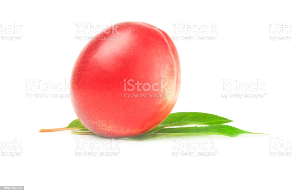 Beautiful ripe peaches isolated on a white background cutout foto stock royalty-free
