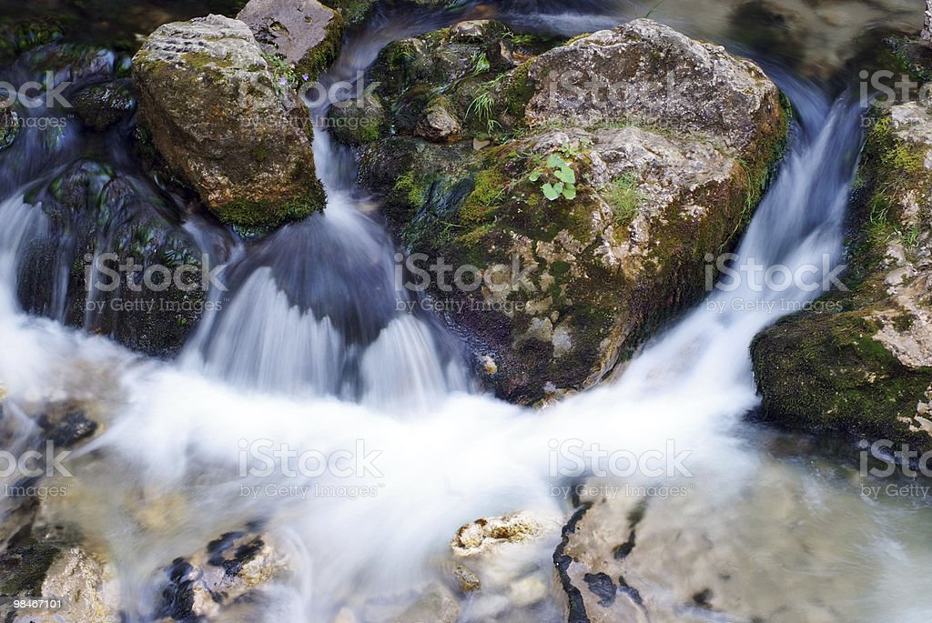 Beautiful river flowing, long exposure royalty-free stock photo