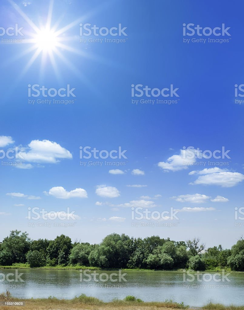 beautiful river landscape royalty-free stock photo