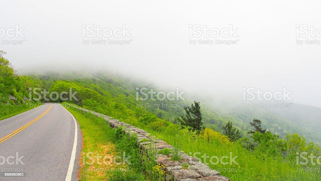 Beautiful road, skyline drive, Virginia, USA stock photo