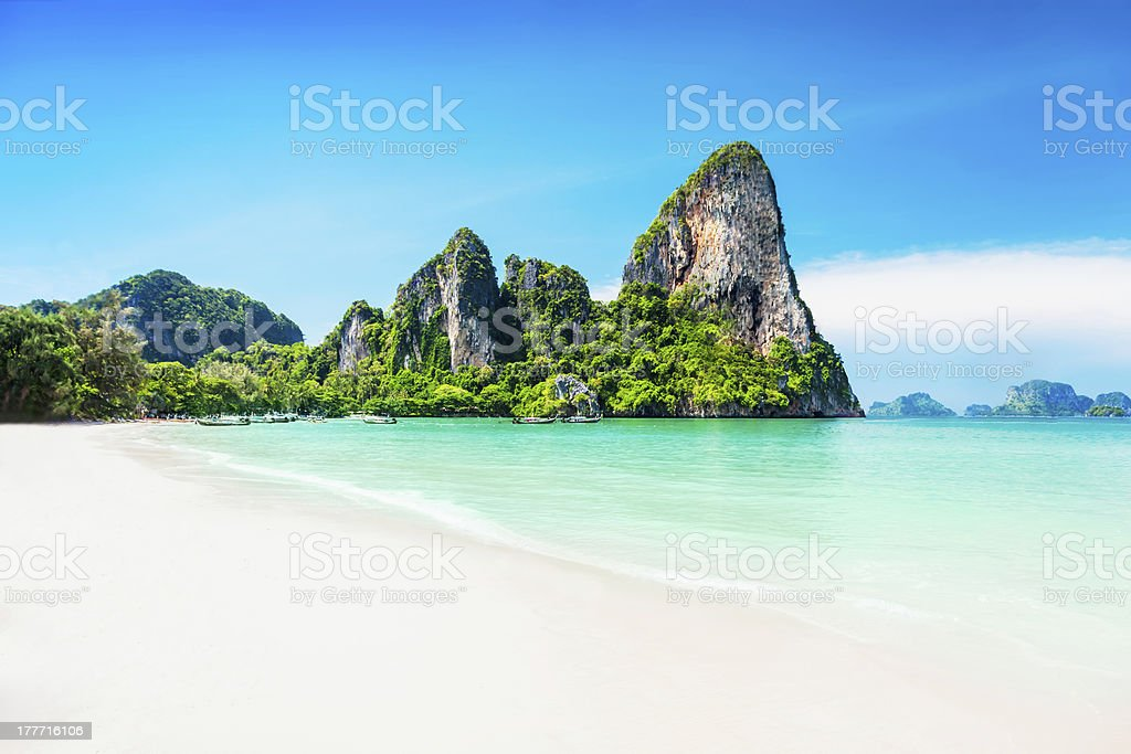 Beautiful rock stock photo