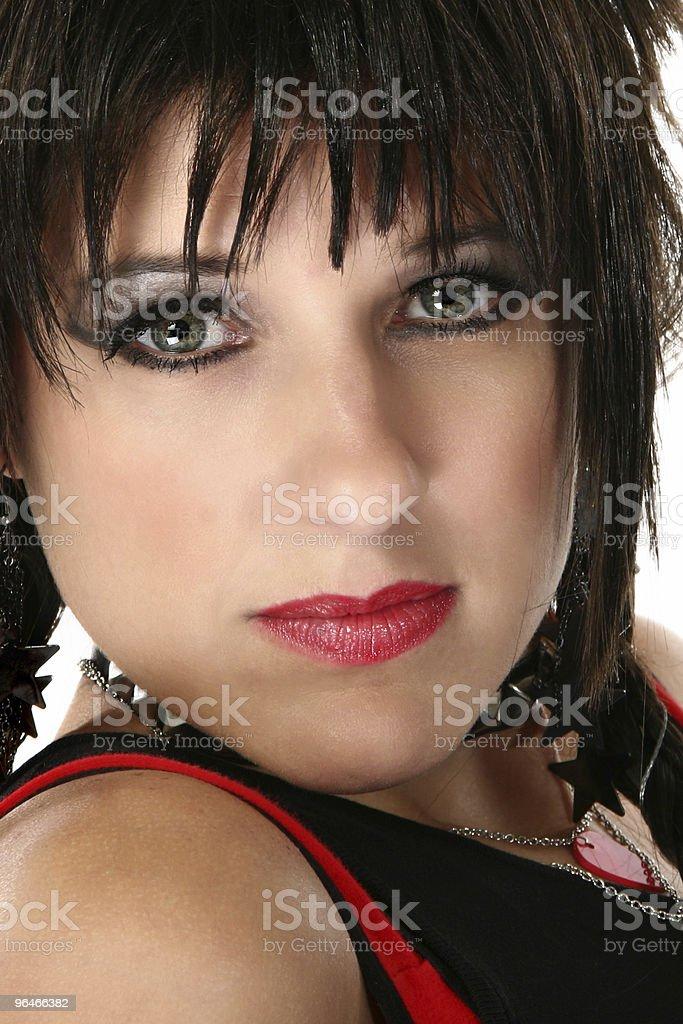 Beautiful Rocker Chick royalty-free stock photo