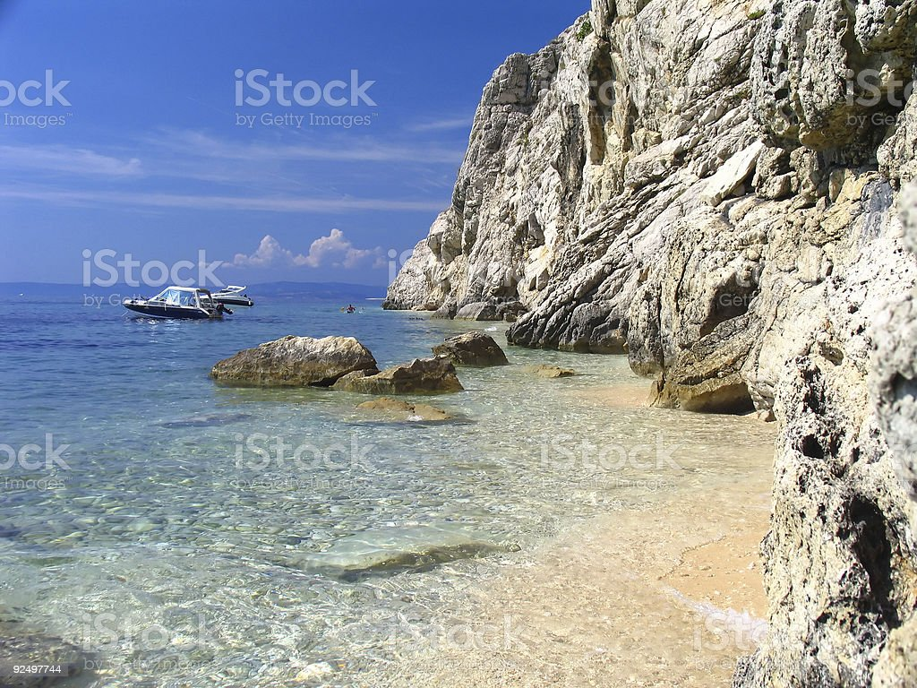 Beautiful rocky beach 02 royalty-free stock photo