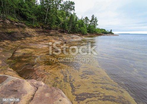 627263082 istock photo Beautiful Rocky Cove On Lake Superior 582284108