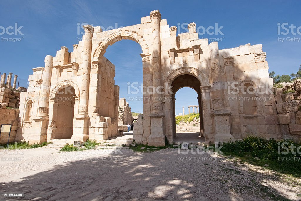Beautiful roman ancient city of Jerash, Jordan stock photo