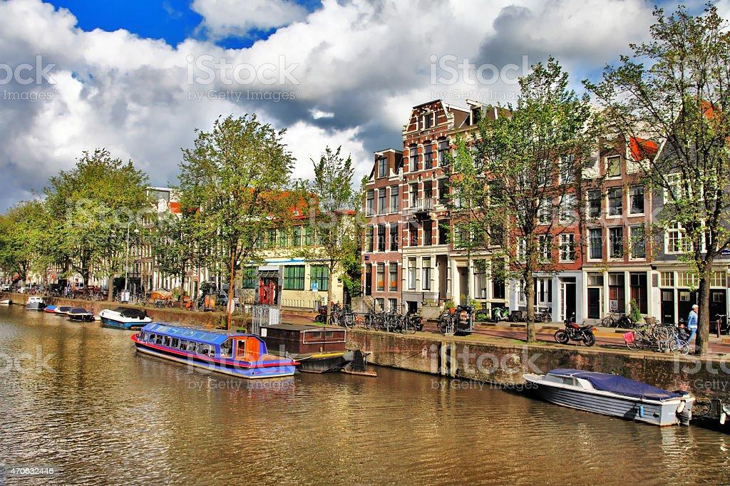 Beautiful Romantic Amsterdam,Holland stock photo