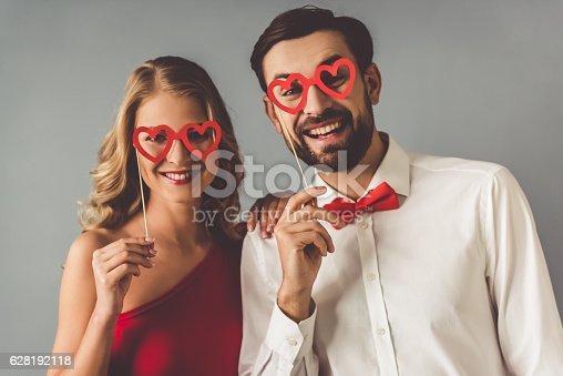 istock Beautiful romantic couple 628192118