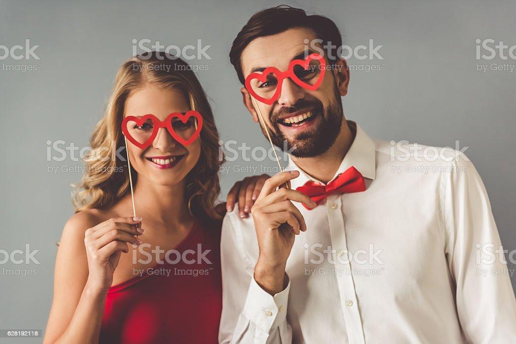 Beautiful romantic couple stock photo