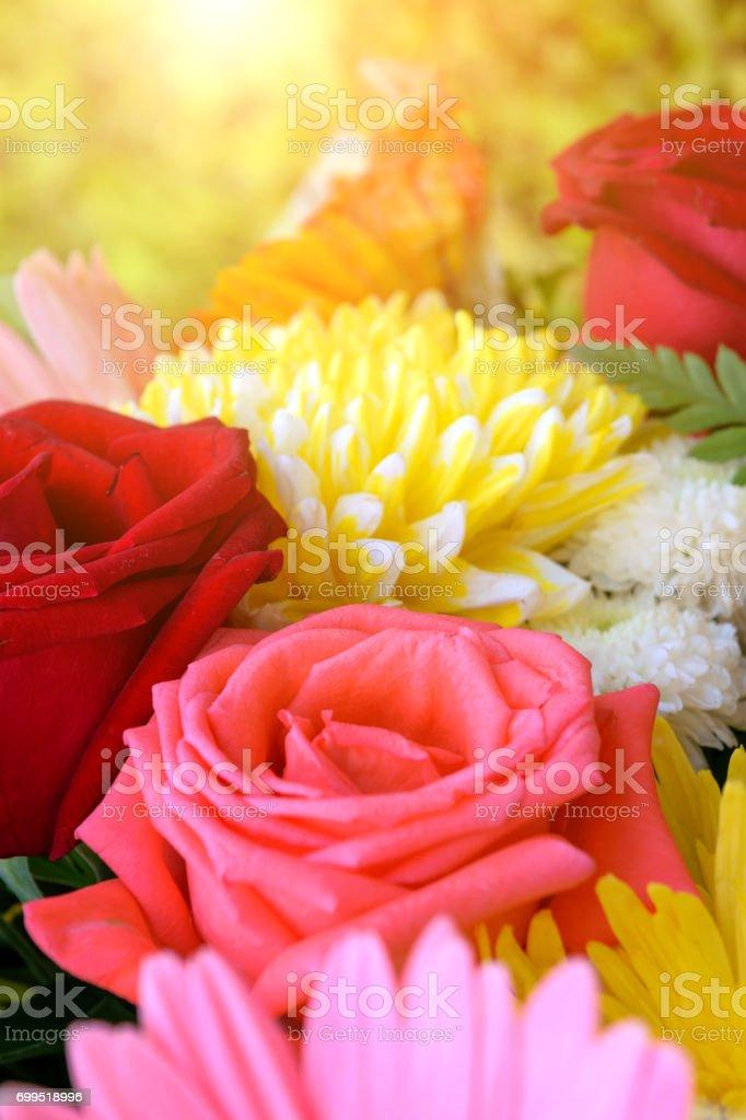 Schöne Rose Blume In Einem Bouquet Natürlich Schöne Blumen Im Garten
