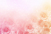 istock beautiful roses flower border in soft vintage tone color background 1022617580
