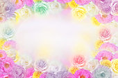 istock beautiful roses flower frame in soft pastel color background 1022617572