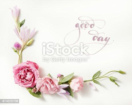 istock beautiful roses frame 614025708