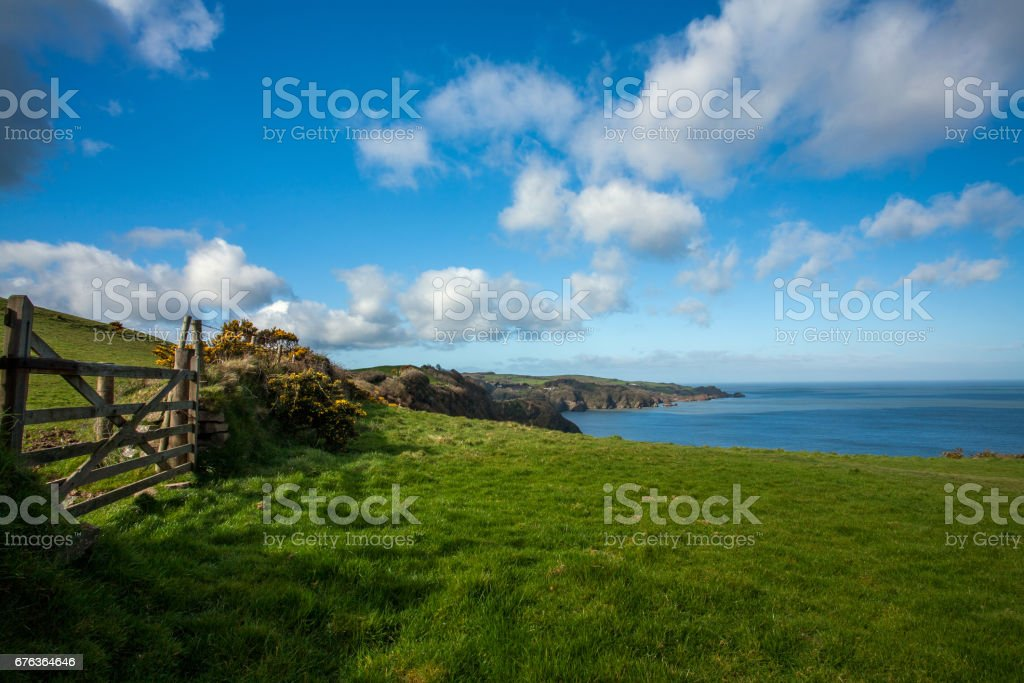 Beautiful Rugged North Devon coast stock photo