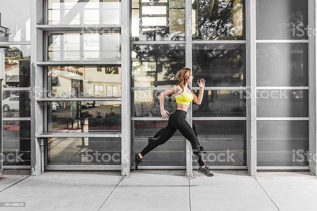 Beautiful Runner royalty-free stock photo