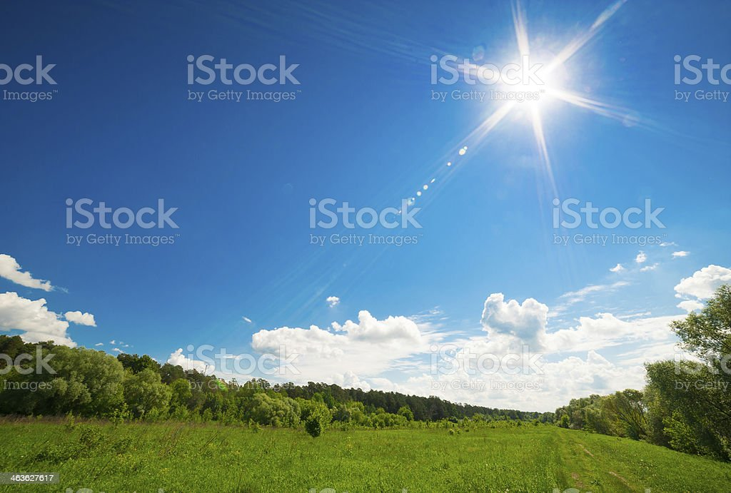Beautiful rural landscape stock photo