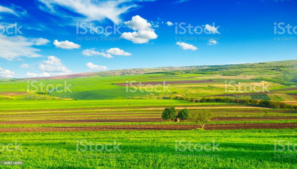beautiful rural landscape stock photo