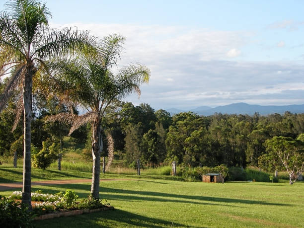 Beautiful rural view near Macksville in New South Wales stock photo