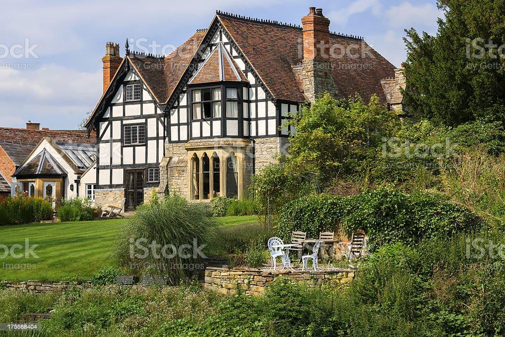 Beautiful rustic looking house stock photo