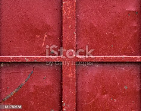 1058533662 istock photo Beautiful rusty and scratched red metal background 1151759678