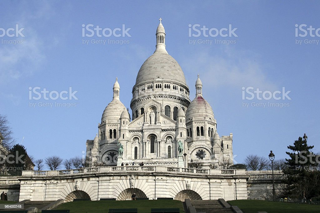 Beautiful Sacre Coeur in Paris - Royalty-free Architectural Dome Stock Photo