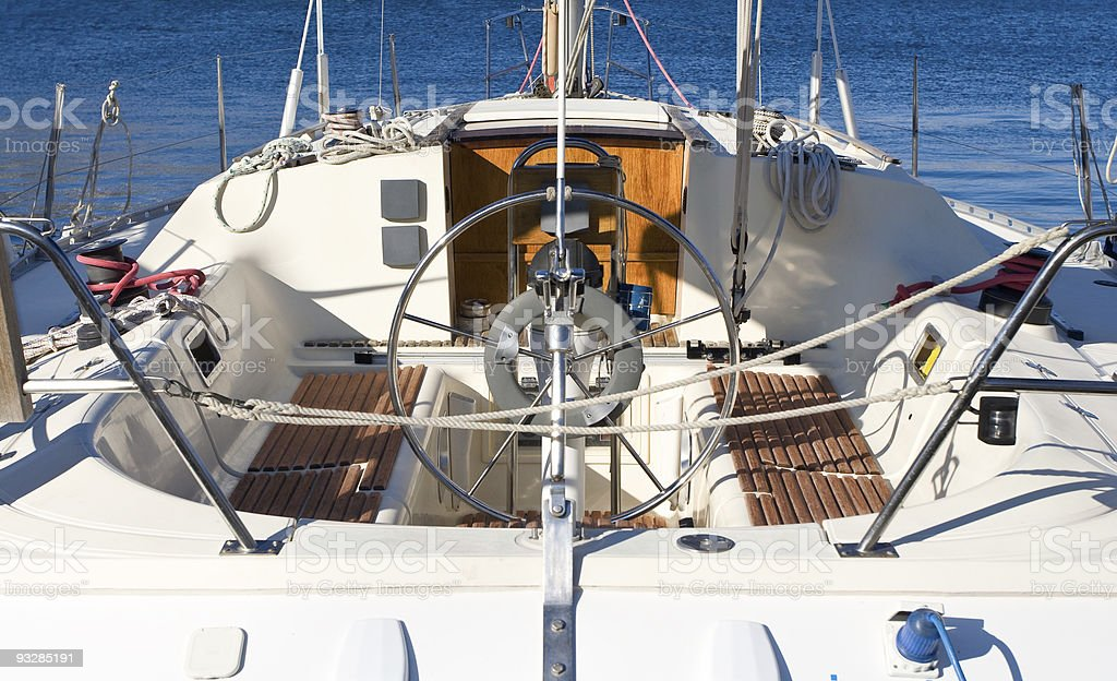 Beautiful sailboat view from rear royalty-free stock photo